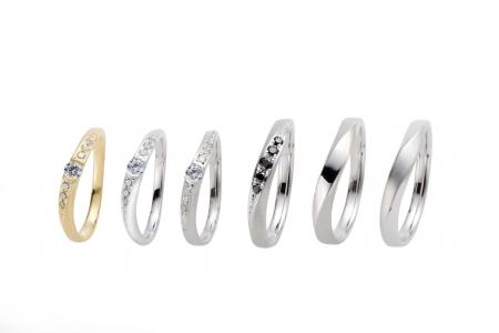 結婚指輪のアレンジパターンいろいろ LA PUREZZA LAD1088-1089