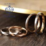 チェスカットとコンビネーションの結婚指輪